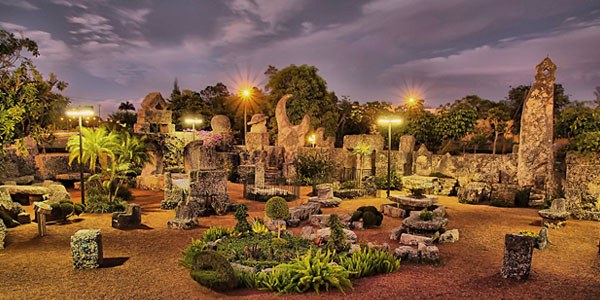 Castle At Night Coral Castle Museum
